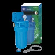 Veľkokapacitný filter FH10B1, s mosadznými vložkami a tlakomerom